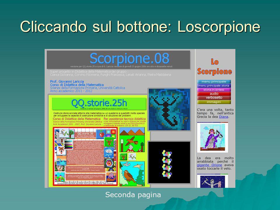 Cliccando sul bottone: Loscorpione