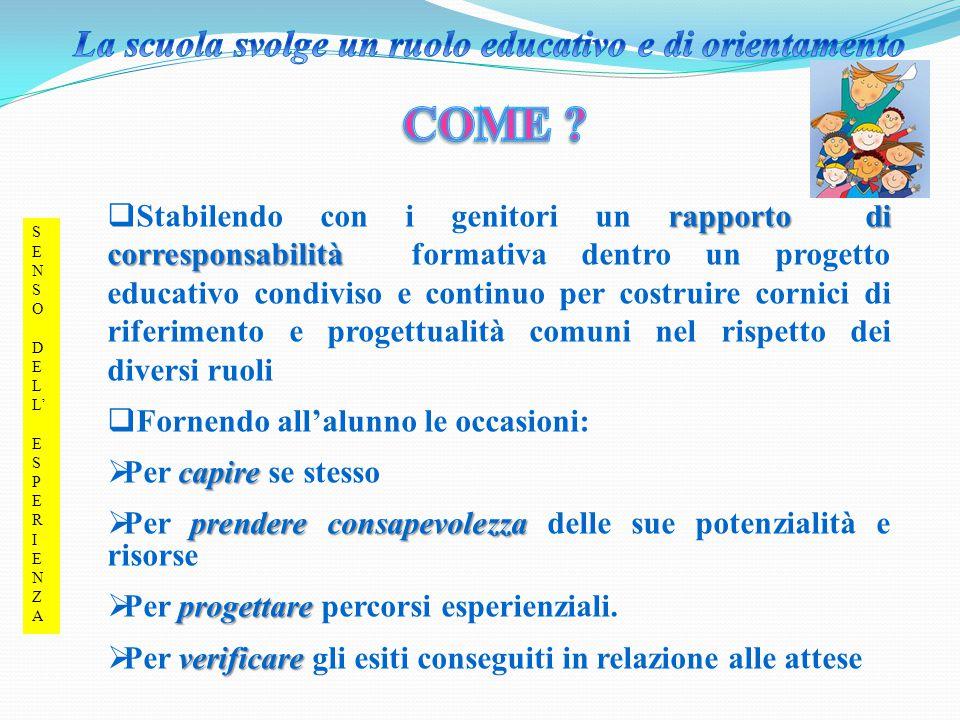 La scuola svolge un ruolo educativo e di orientamento