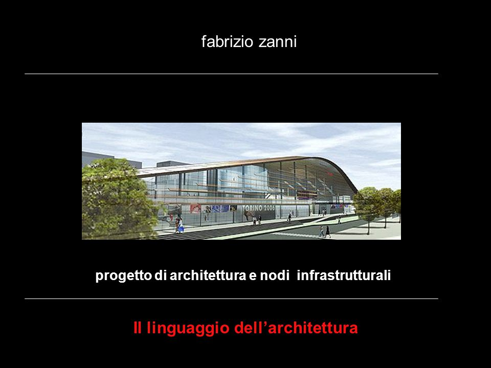 Il linguaggio dell'architettura