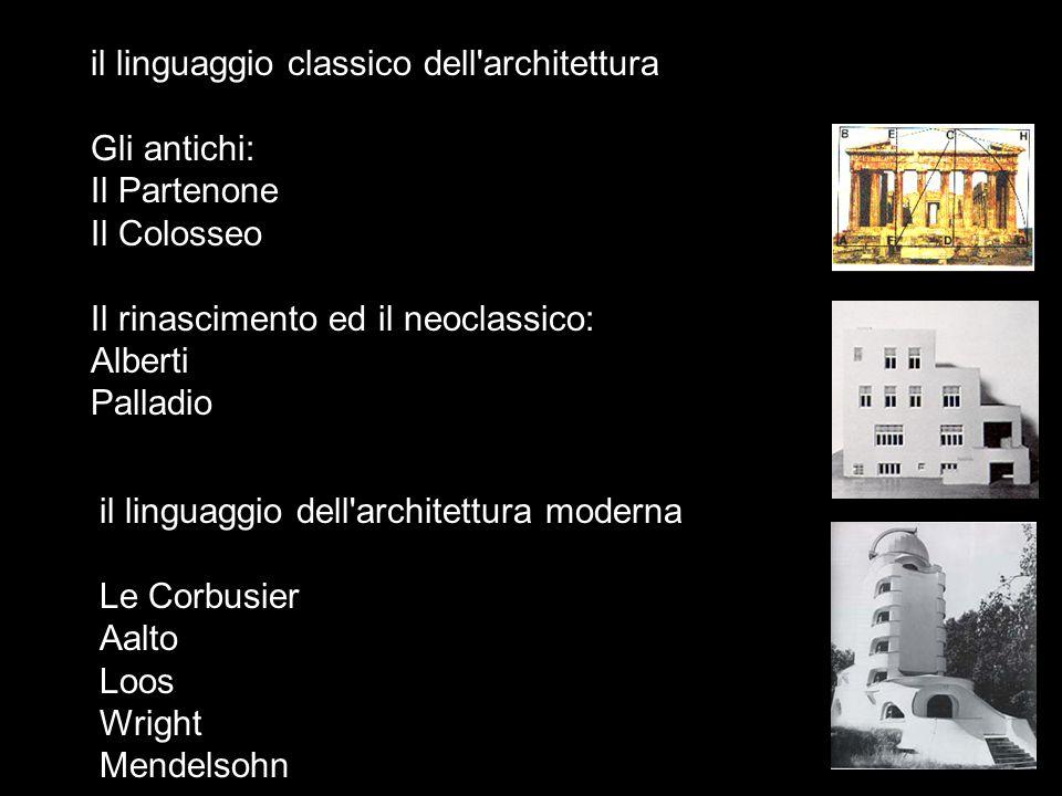 il linguaggio classico dell architettura