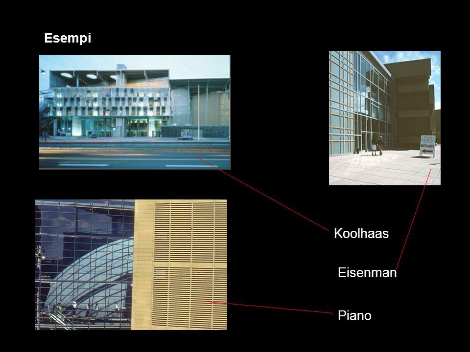 Esempi Koolhaas Eisenman Piano