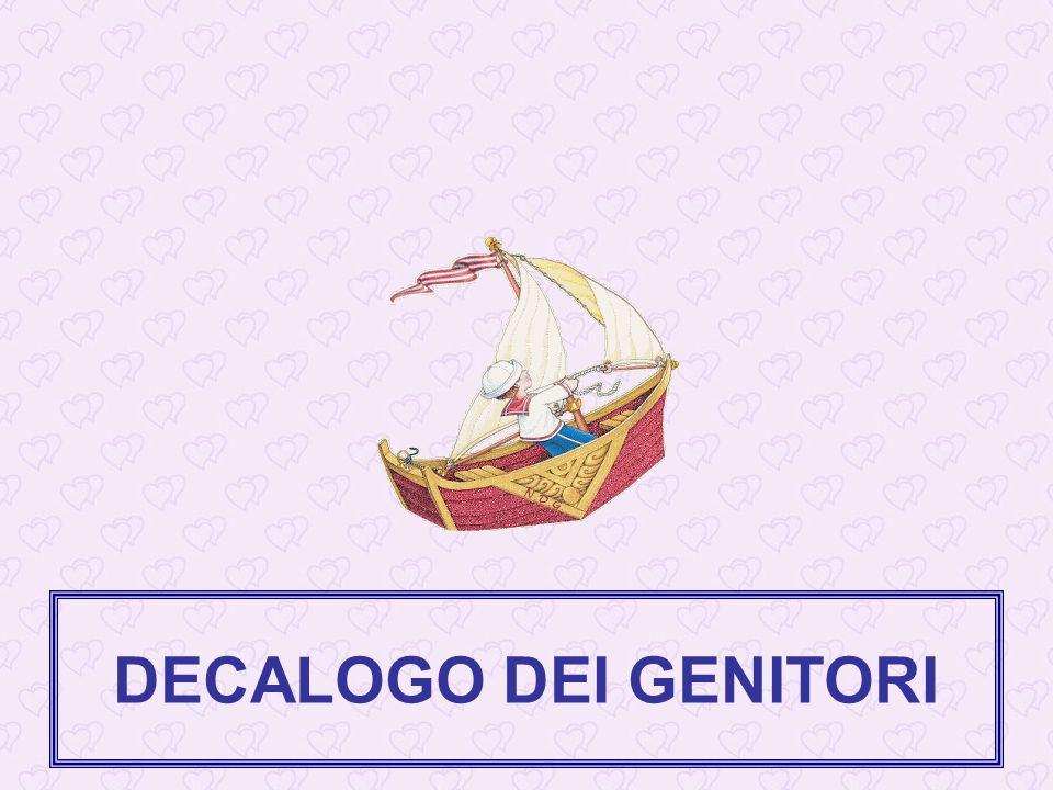 DECALOGO DEI GENITORI