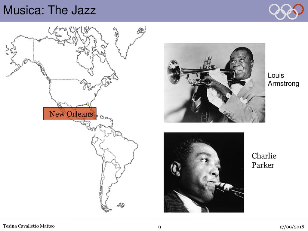 Musica: The Jazz New Orleans Charlie Parker Louis Armstrong 17/09/2018