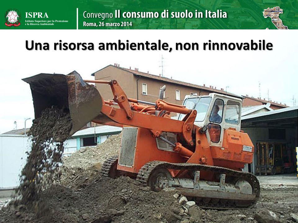 Una risorsa ambientale, non rinnovabile