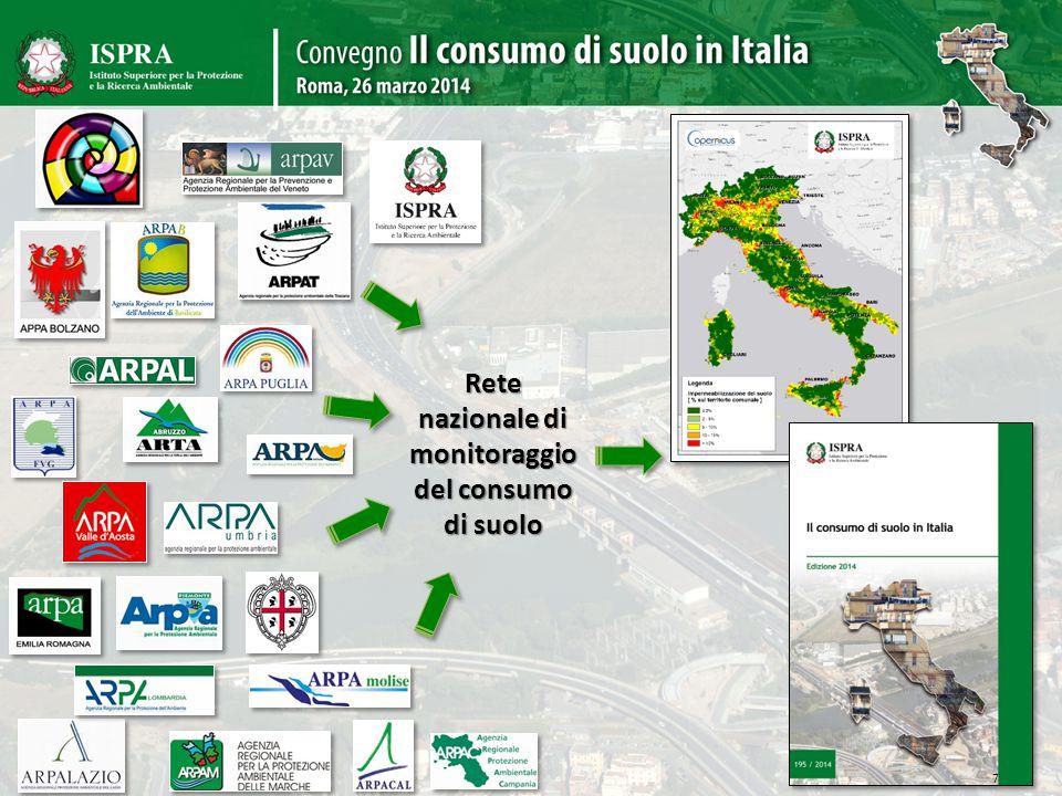 Rete nazionale di monitoraggio del consumo di suolo