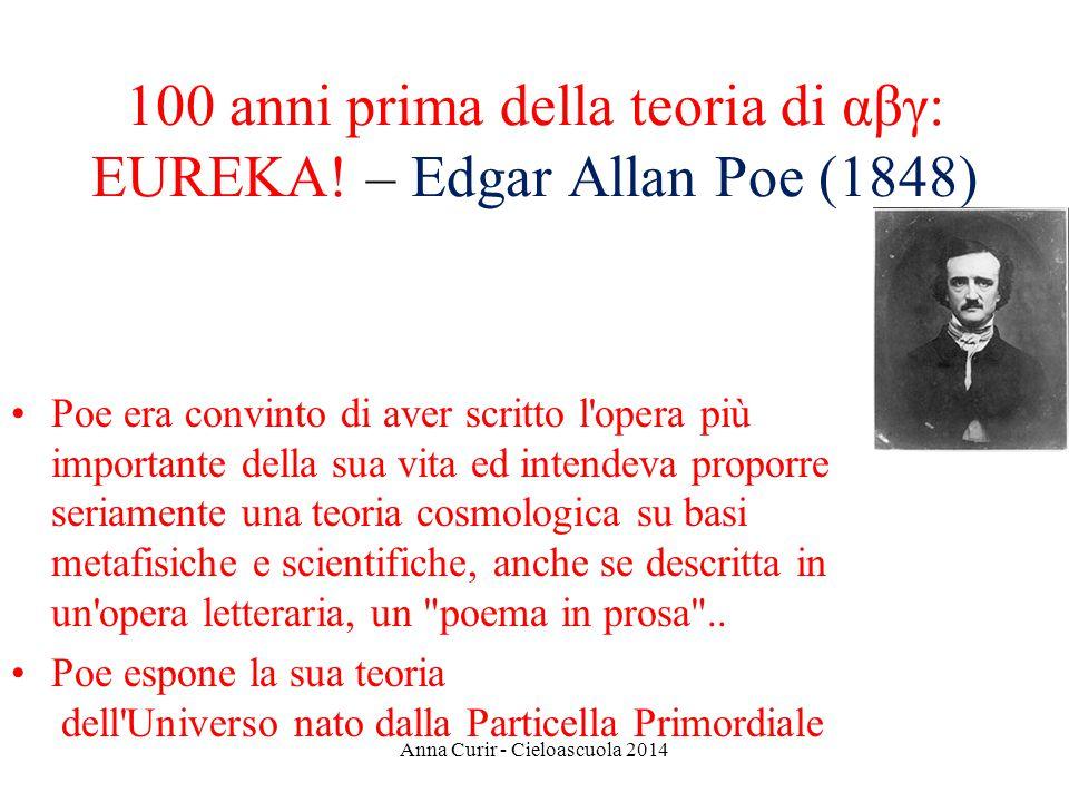 100 anni prima della teoria di αβγ: EUREKA! – Edgar Allan Poe (1848)