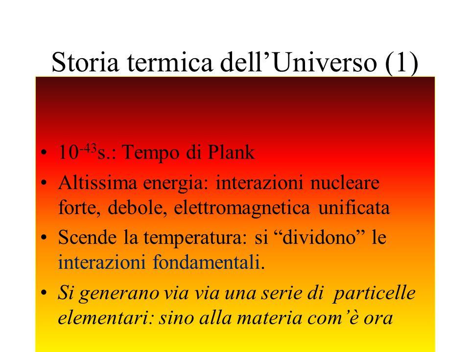 Storia termica dell'Universo (1)