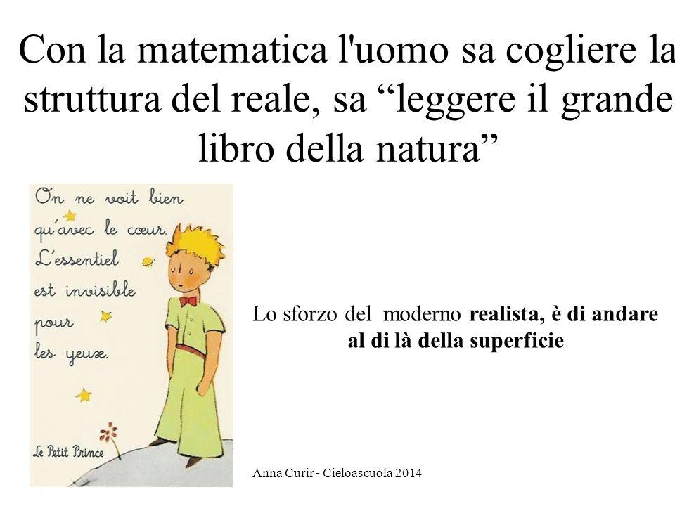 Con la matematica l uomo sa cogliere la struttura del reale, sa leggere il grande libro della natura