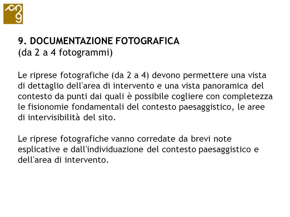 9. DOCUMENTAZIONE FOTOGRAFICA (da 2 a 4 fotogrammi)