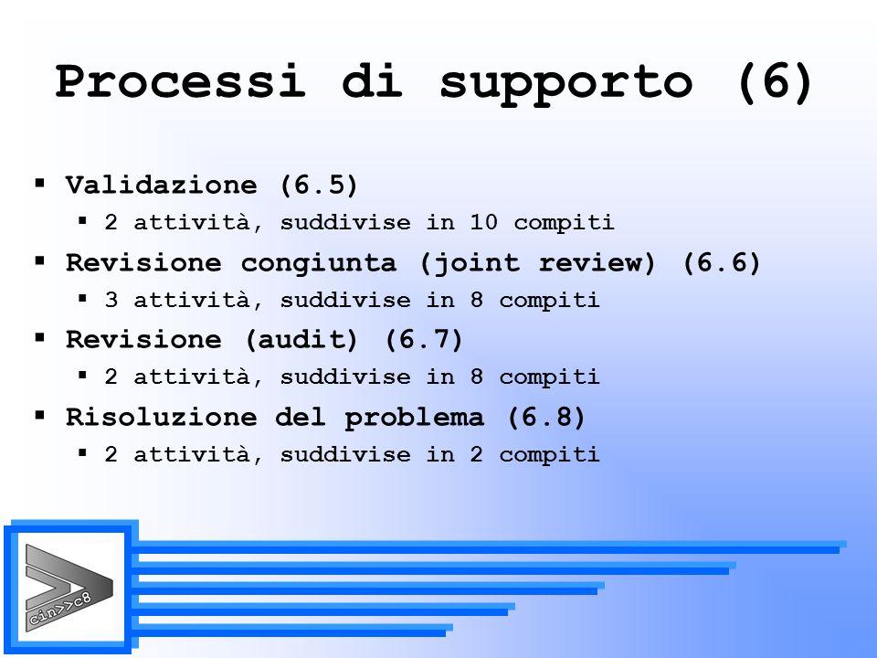 Processi di supporto (6)