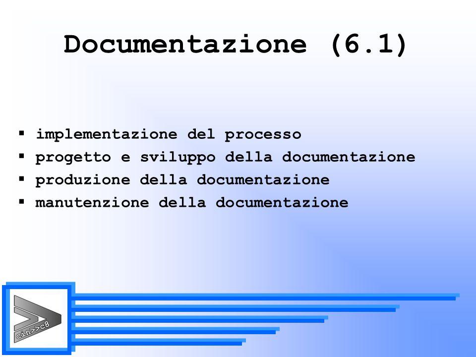 Documentazione (6.1) implementazione del processo