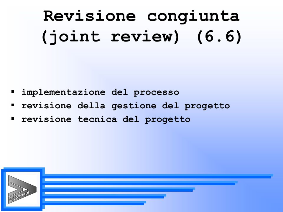 Revisione congiunta (joint review) (6.6)