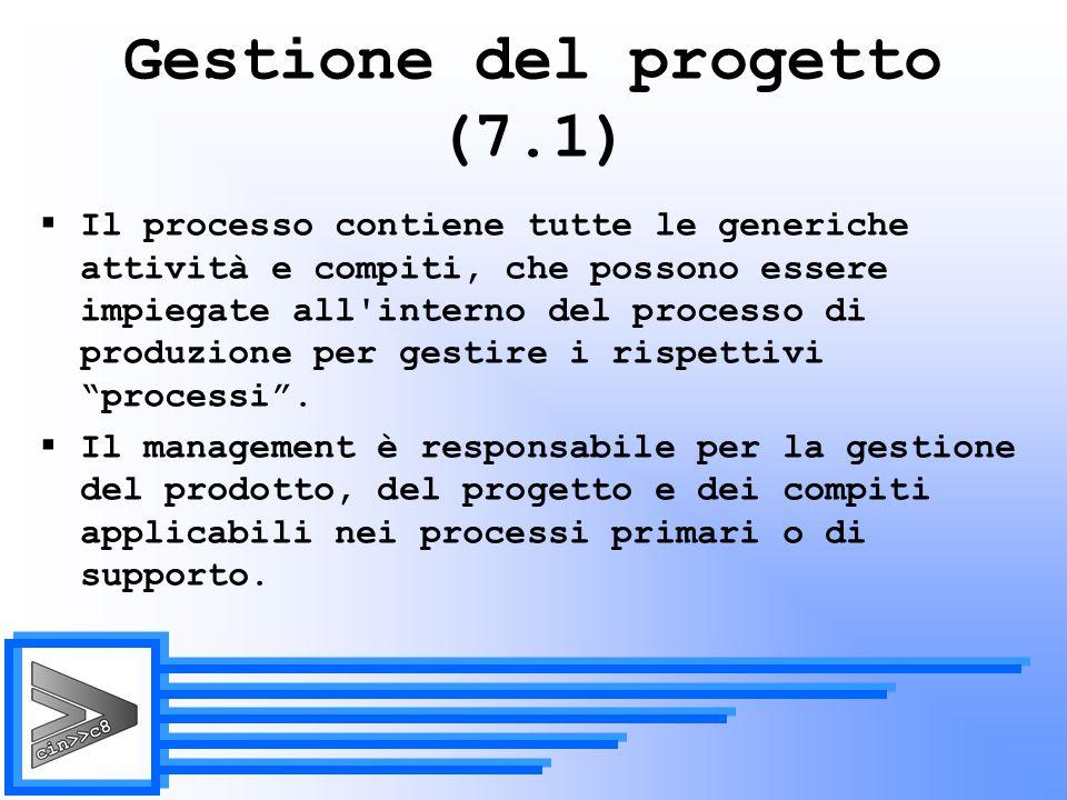 Gestione del progetto (7.1)