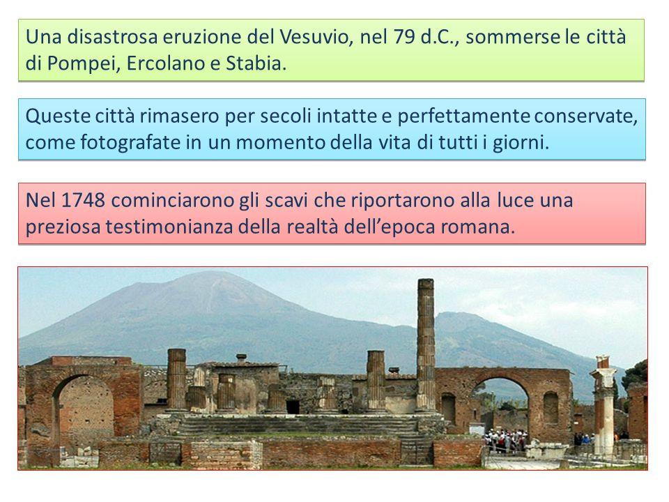 Una disastrosa eruzione del Vesuvio, nel 79 d. C
