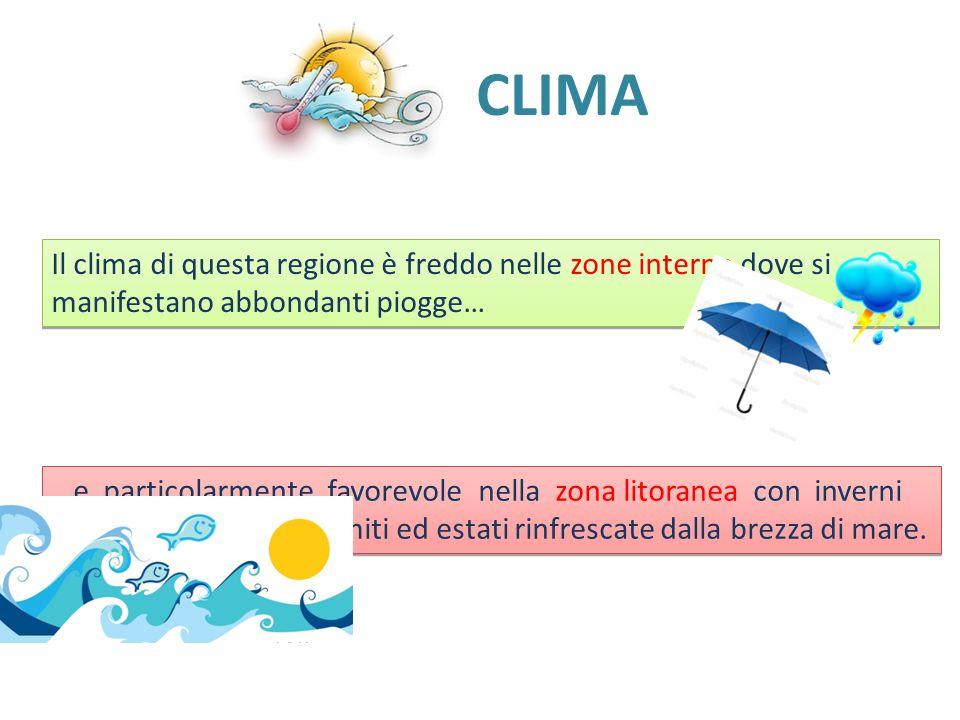 CLIMA Il clima di questa regione è freddo nelle zone interne dove si manifestano abbondanti piogge…