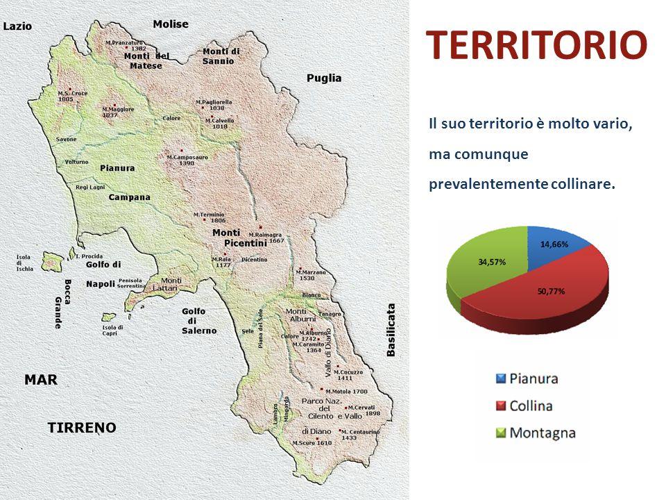 territorio Il suo territorio è molto vario, ma comunque prevalentemente collinare.