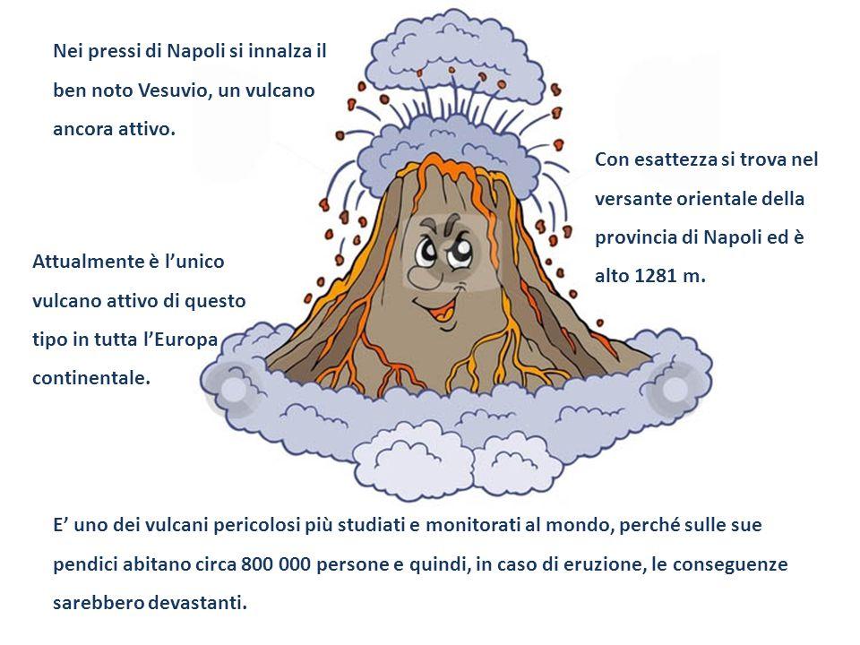 Nei pressi di Napoli si innalza il ben noto Vesuvio, un vulcano ancora attivo.
