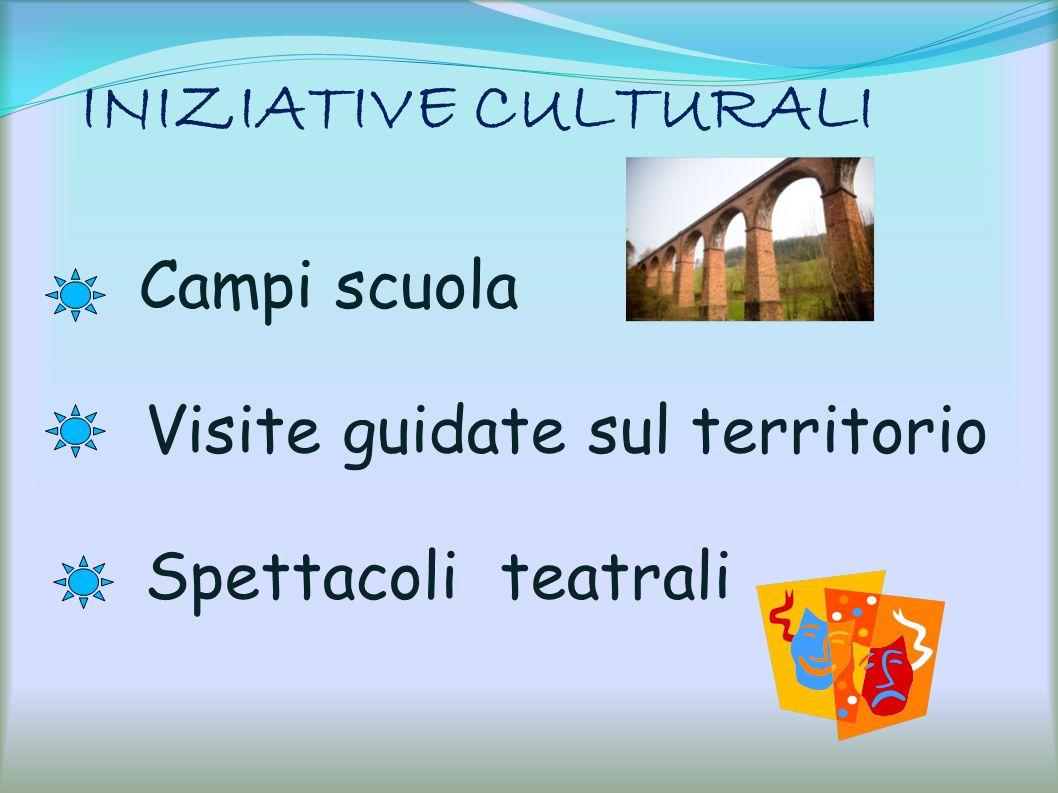 INIZIATIVE CULTURALI Campi scuola Visite guidate sul territorio