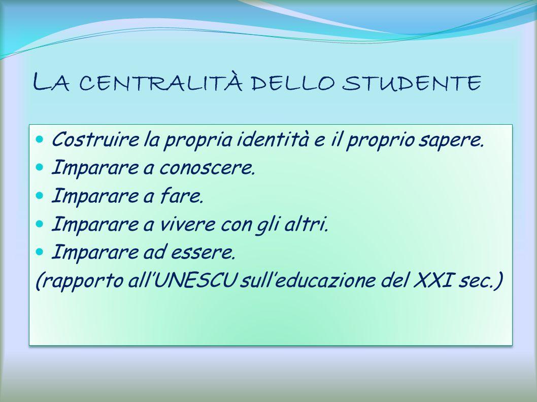 La centralità dello studente