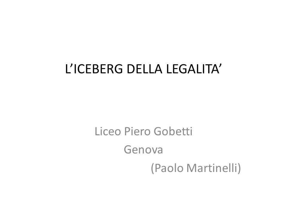 L'ICEBERG DELLA LEGALITA'