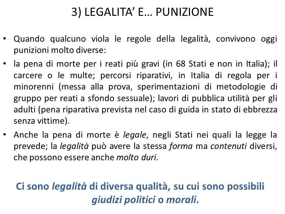 3) LEGALITA' E… PUNIZIONE