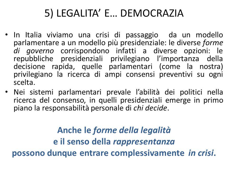 5) LEGALITA' E… DEMOCRAZIA