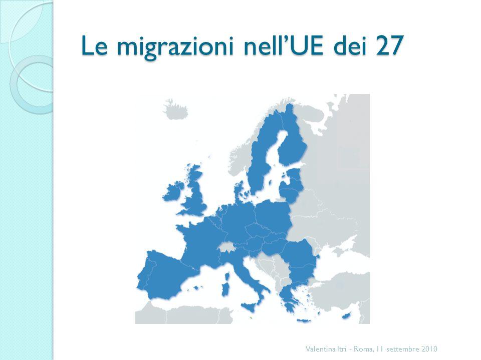 Le migrazioni nell'UE dei 27