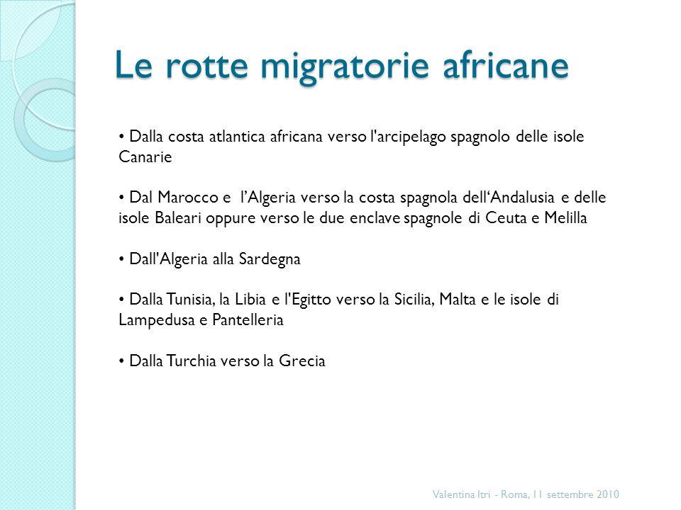 Le rotte migratorie africane