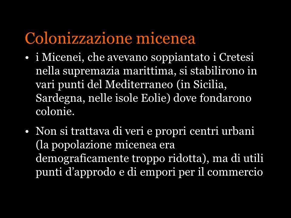 Colonizzazione micenea