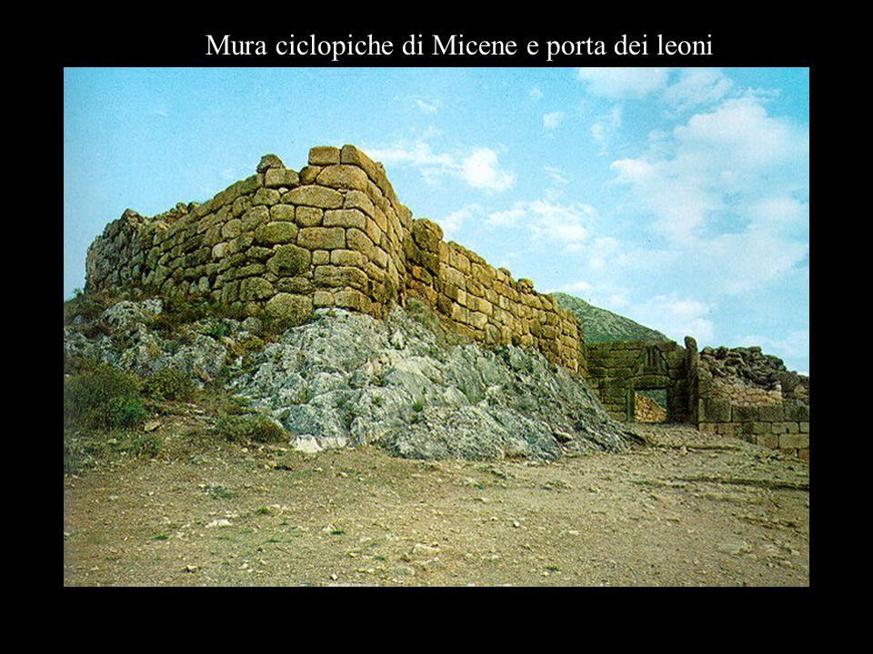 Mura ciclopiche di Micene e porta dei leoni