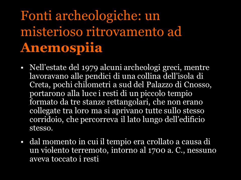 Fonti archeologiche: un misterioso ritrovamento ad Anemospiia