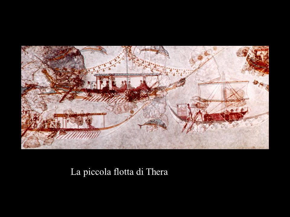 La piccola flotta di Thera
