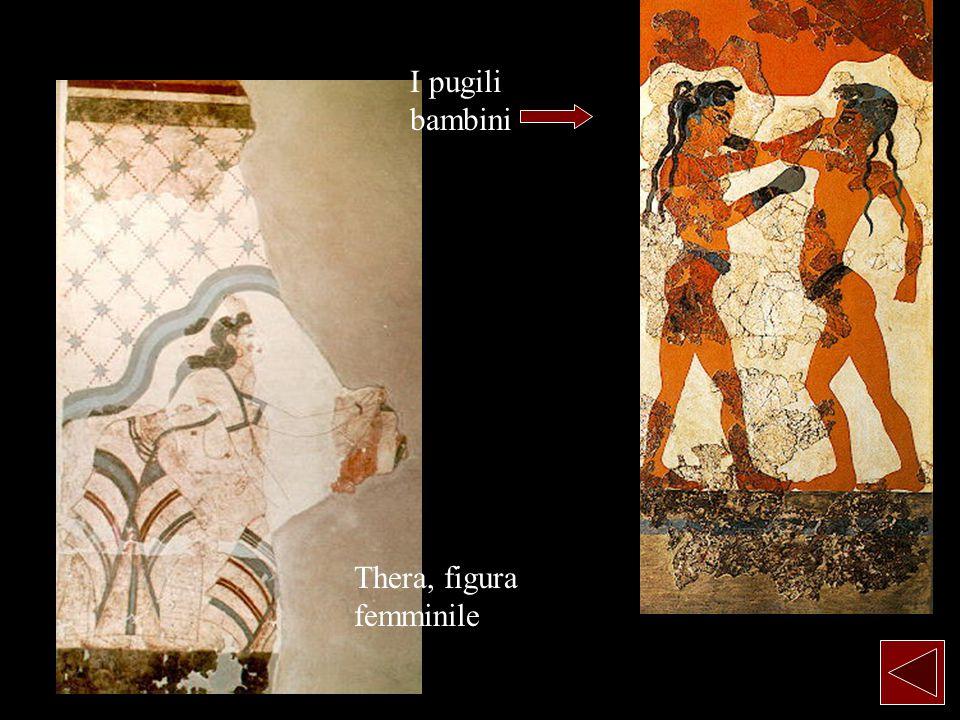 I pugili bambini Thera, figura femminile