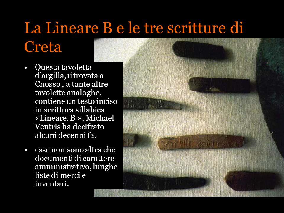 La Lineare B e le tre scritture di Creta