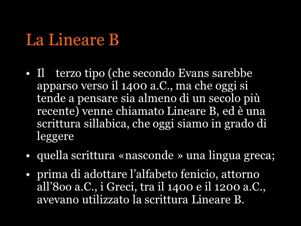 La Lineare B