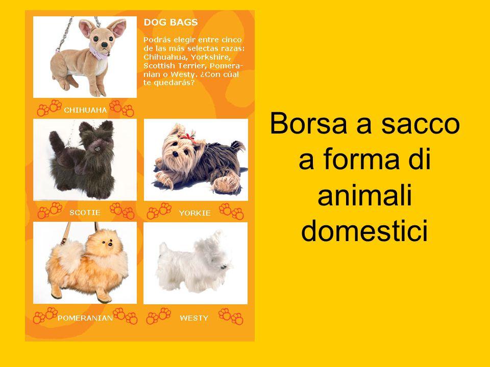 Borsa a sacco a forma di animali domestici