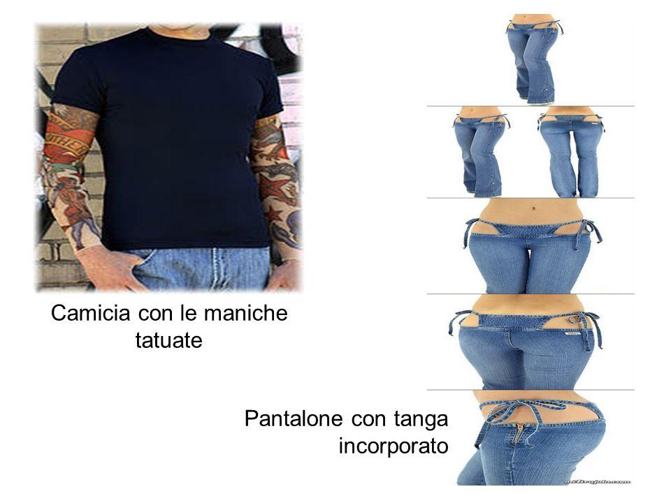 Camicia con le maniche tatuate