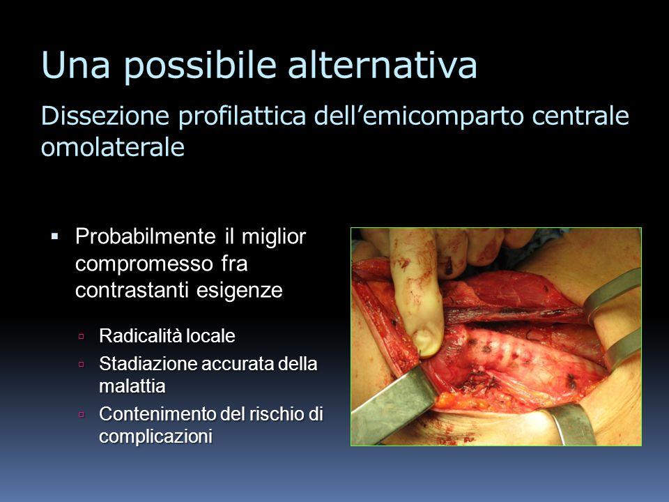 Una possibile alternativa Dissezione profilattica dell'emicomparto centrale omolaterale
