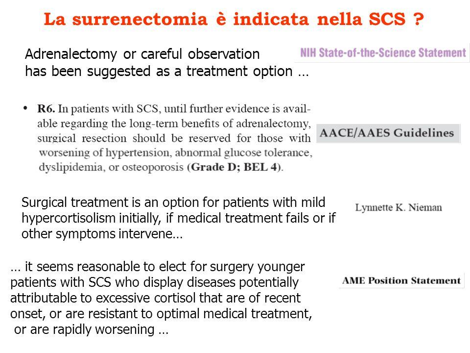 La surrenectomia è indicata nella SCS