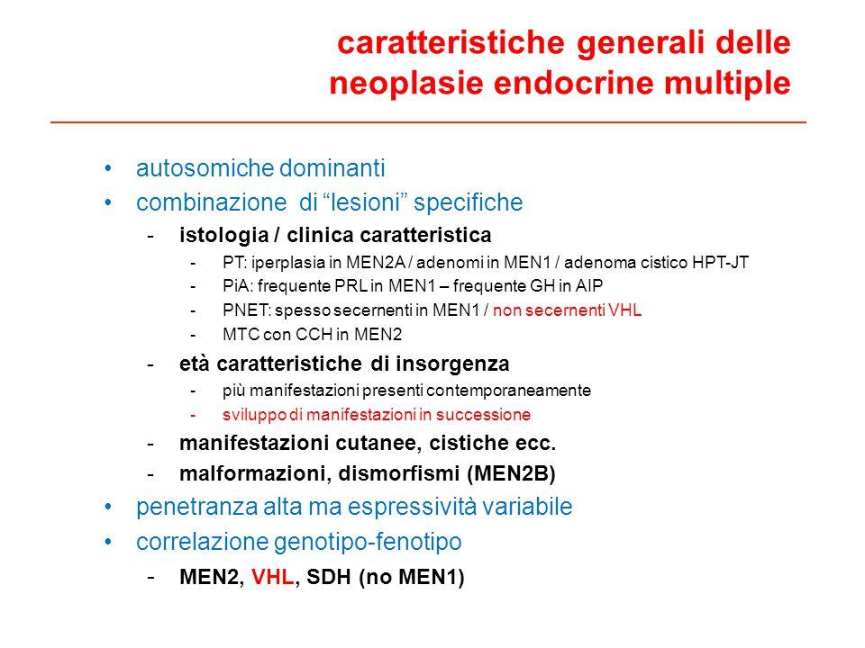 caratteristiche generali delle neoplasie endocrine multiple