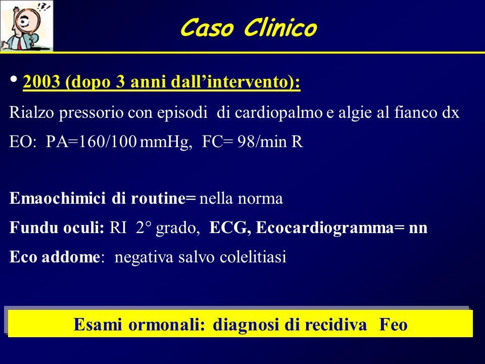 Esami ormonali: diagnosi di recidiva Feo