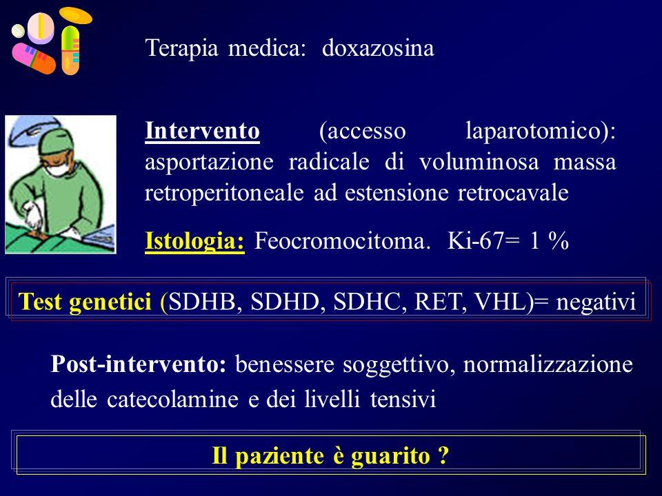 Terapia medica: doxazosina