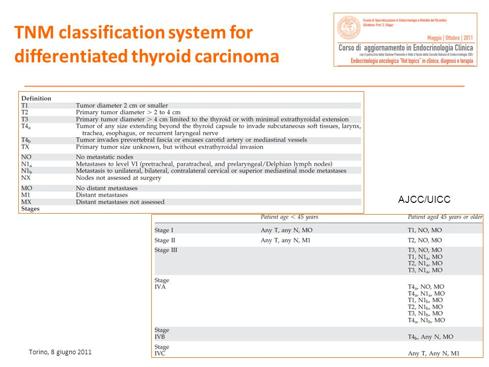 TNM classification system for differentiated thyroid carcinoma