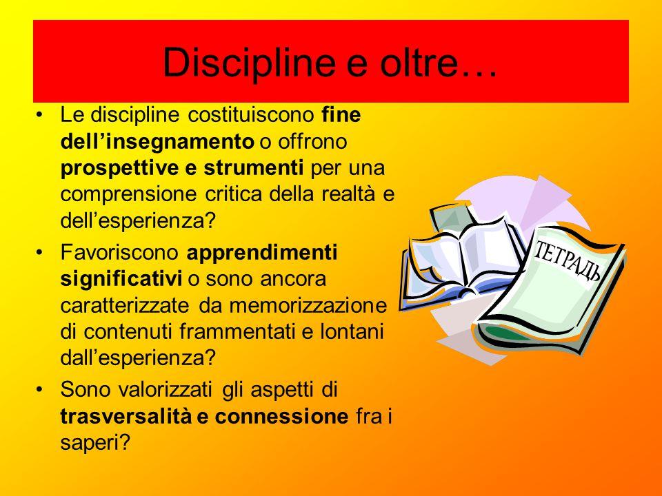 Discipline e oltre…
