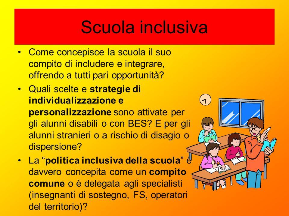 Scuola inclusiva Come concepisce la scuola il suo compito di includere e integrare, offrendo a tutti pari opportunità