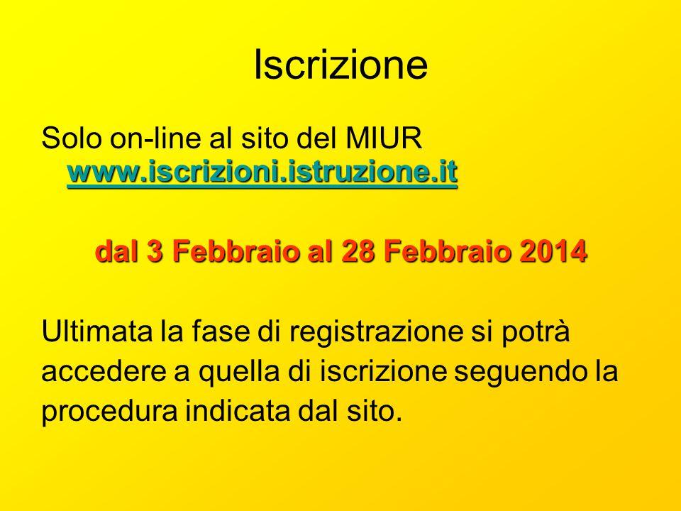 dal 3 Febbraio al 28 Febbraio 2014