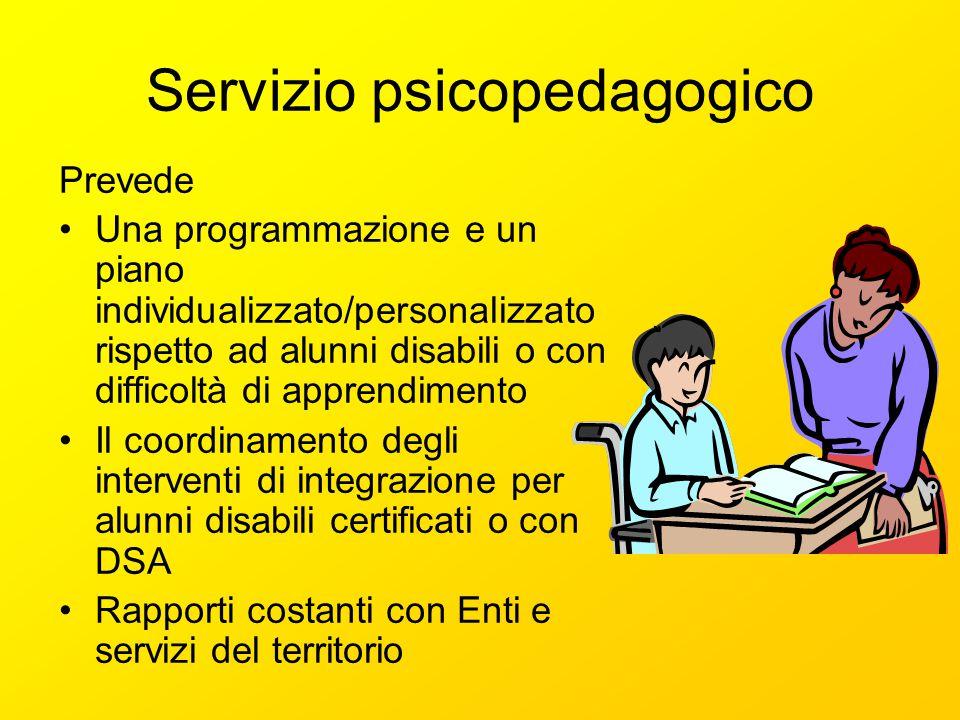 Servizio psicopedagogico