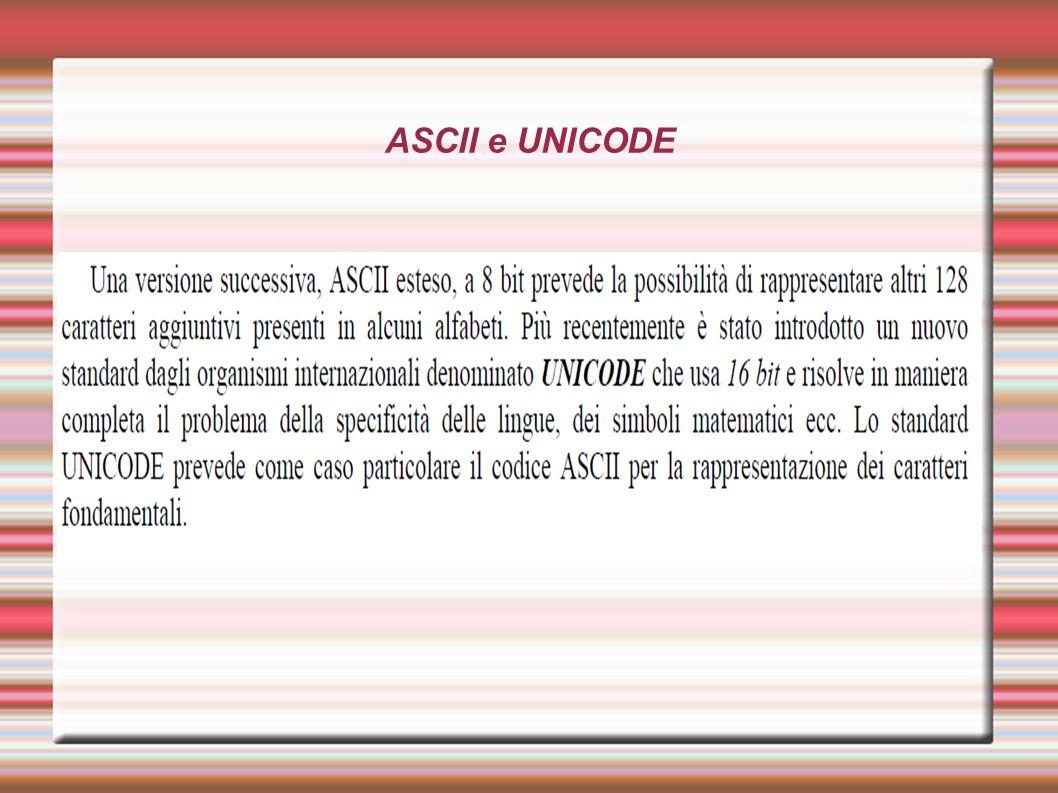ASCII e UNICODE