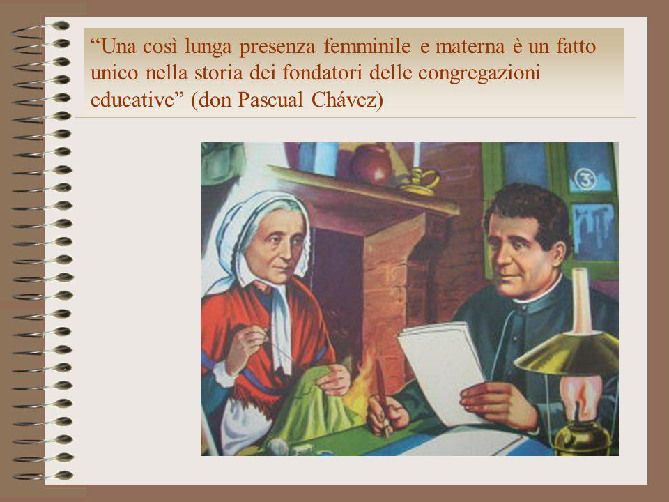 Una così lunga presenza femminile e materna è un fatto unico nella storia dei fondatori delle congregazioni educative (don Pascual Chávez)