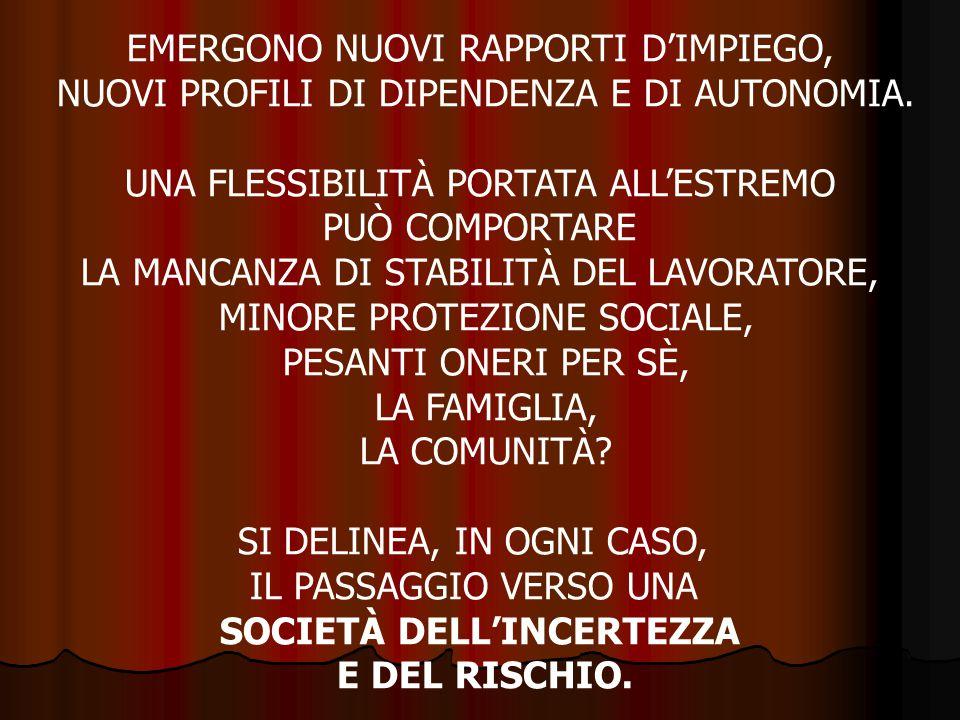 EMERGONO NUOVI RAPPORTI D'IMPIEGO,
